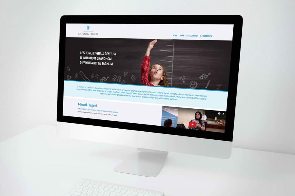 Anton Buttigieg Foundation - Web Design and Development