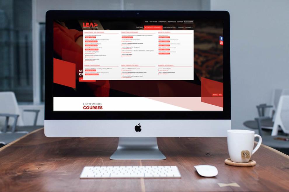 Lead Training Services - Web Design and Development