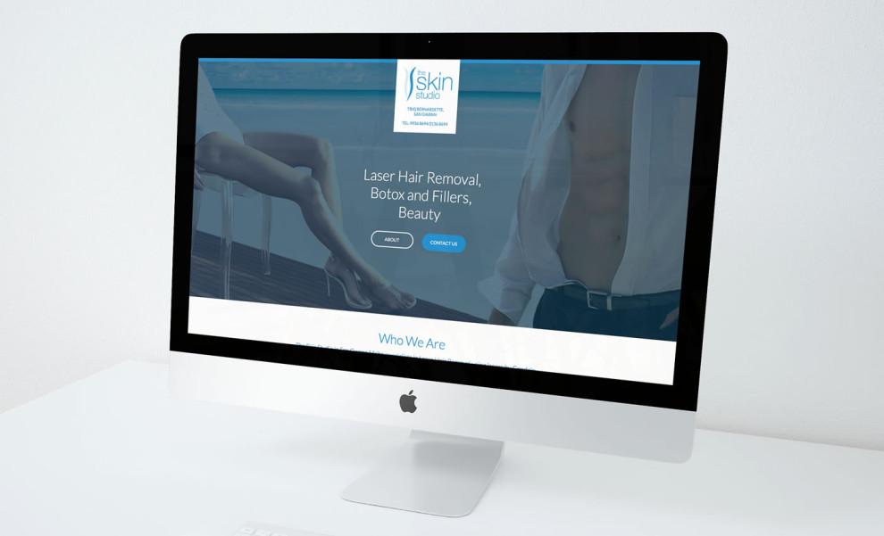 The Skin Studio - Landing Page (Desktop Version)