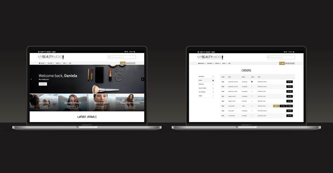 MyBeautyHacks.com - Website Design and Development